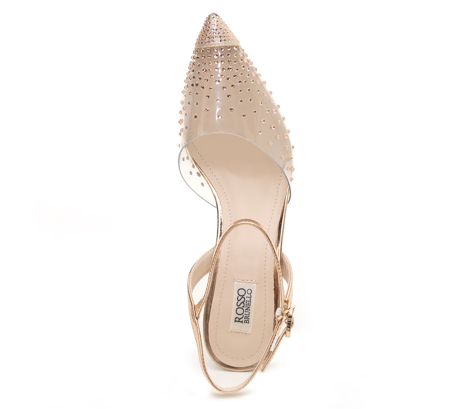 Transparent Pointed toe heels