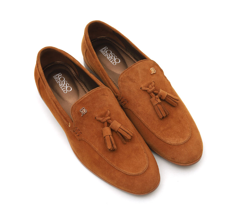 Suede Loafers with Tassels