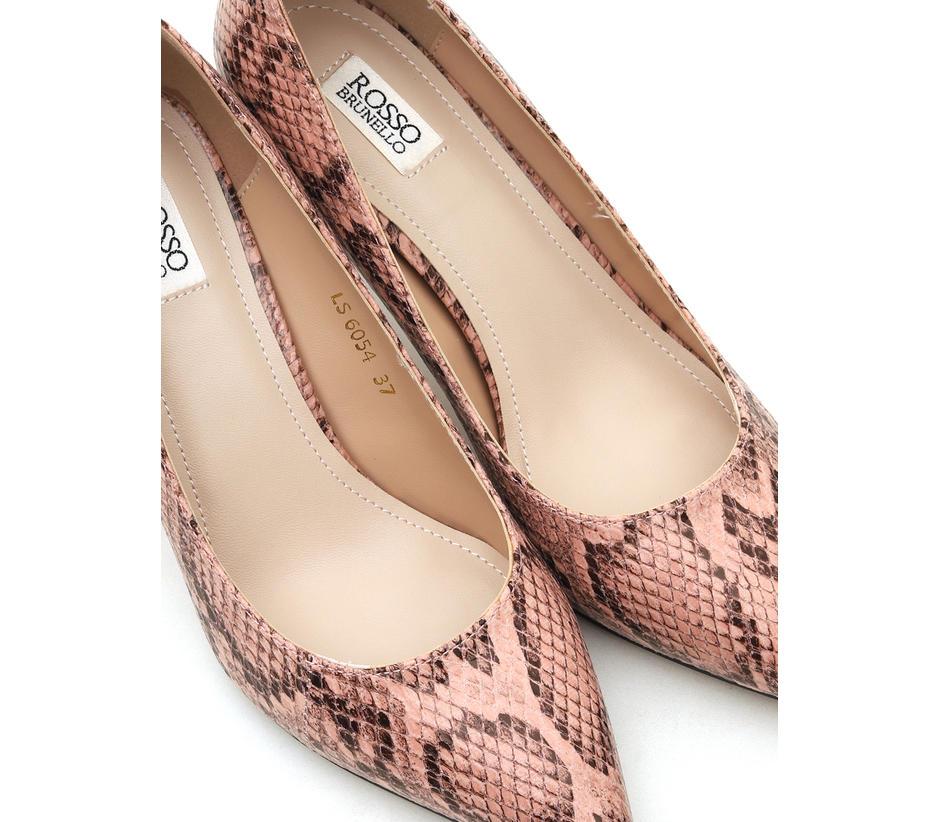 Animal Print Leather Heels