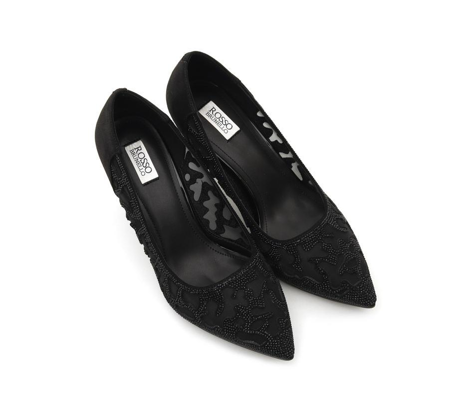 Black Net Heels