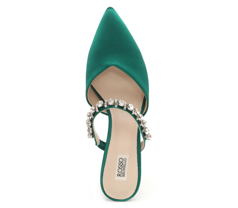 Studded Slip On Heels