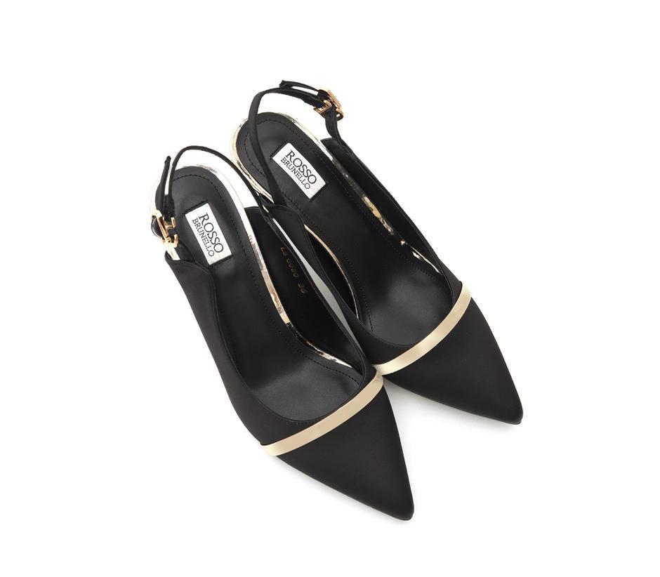 Black Heels With Golden Stripe