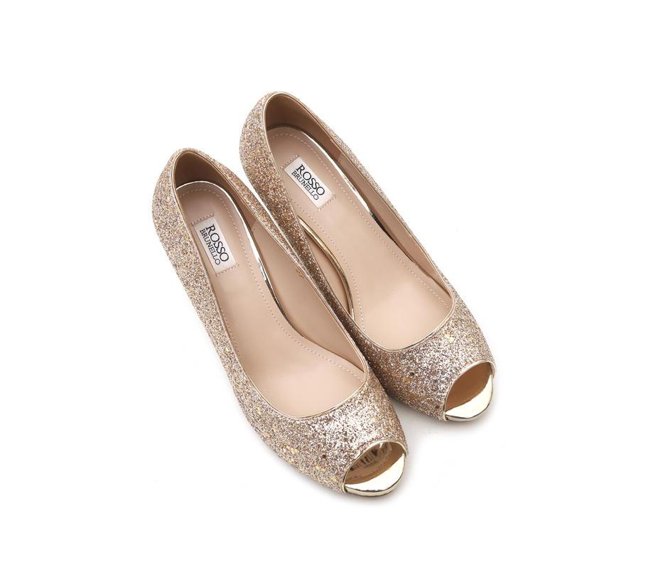 Golden Shimmer Heels