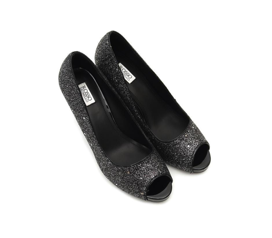 Pewter Shimmer Heels