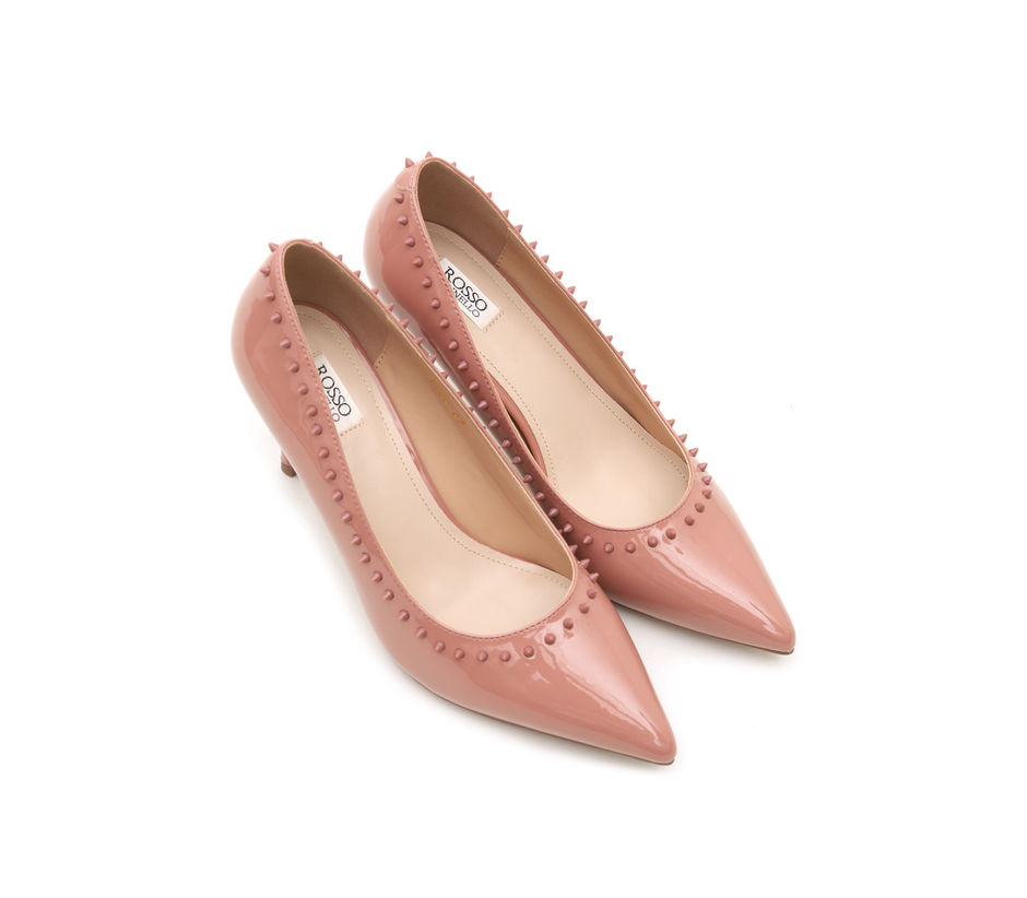 Pink Patent Pointed Toe Heels