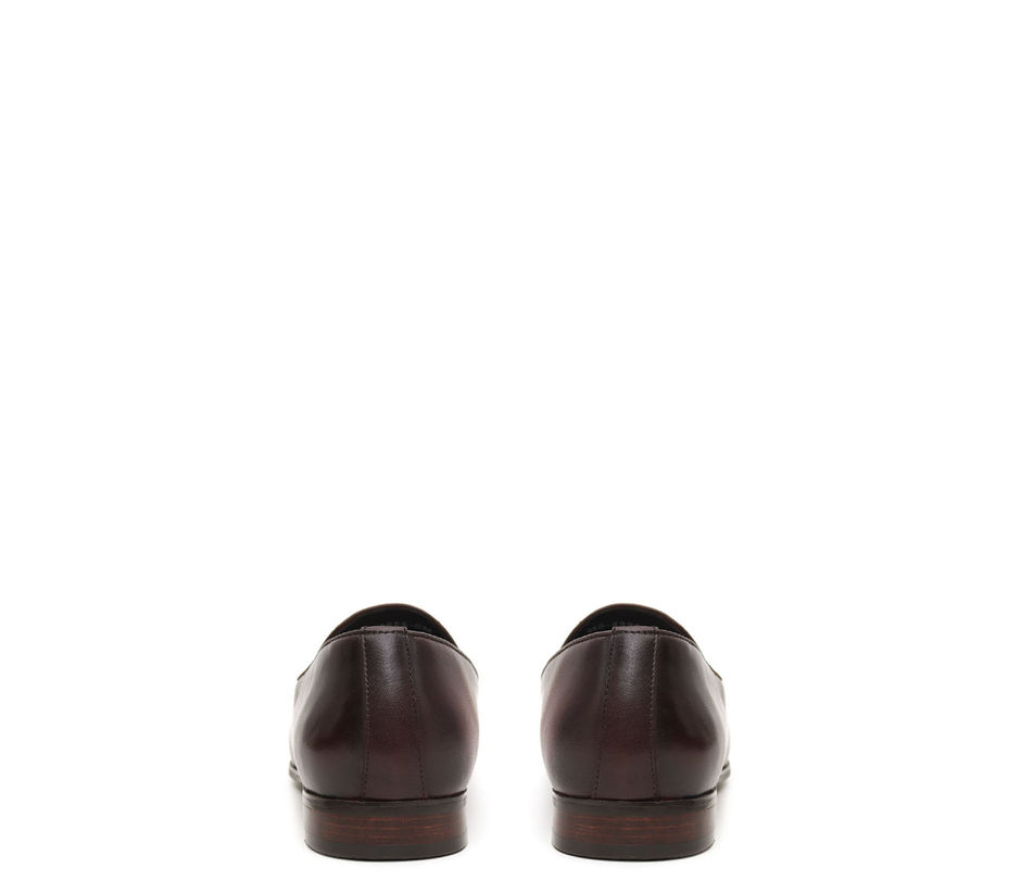Dual Tone Coffee Loafers