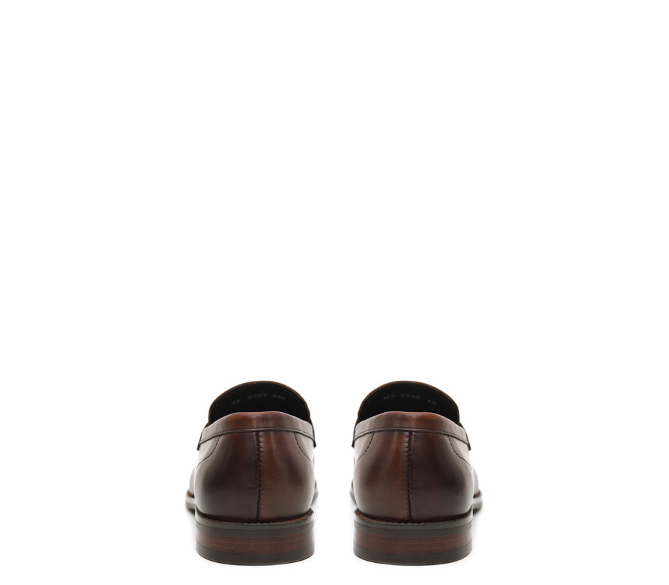 Brown Loafers With Leather Panel