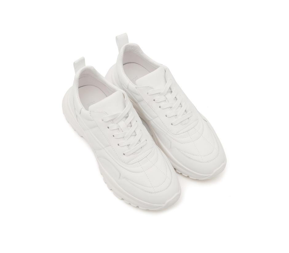 Bulky Plain White Sneakers