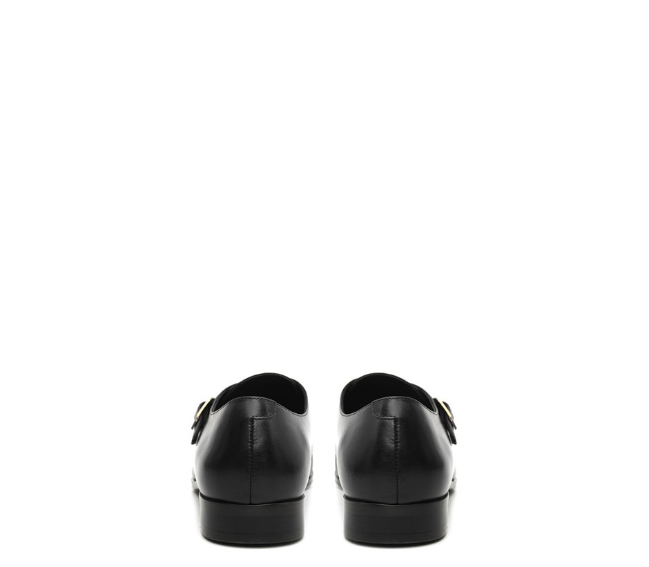 Plain Black Monk Strap