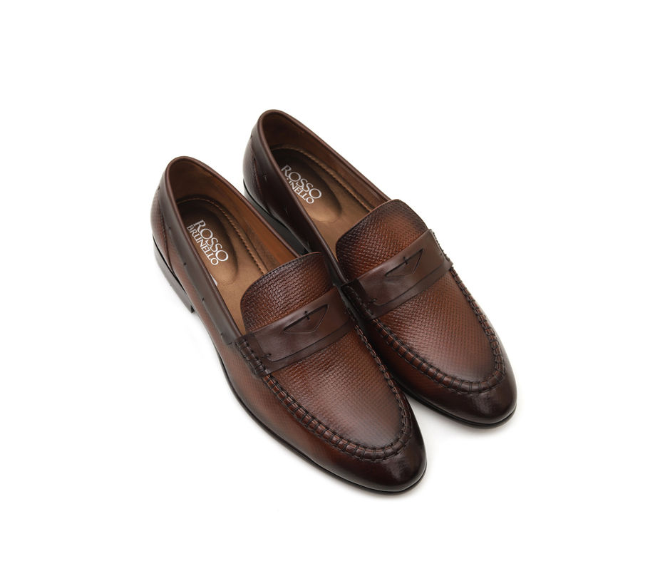 Weave Printed Loafers