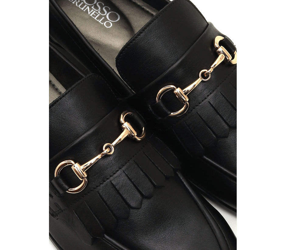 Loafers With Metal Embellishment
