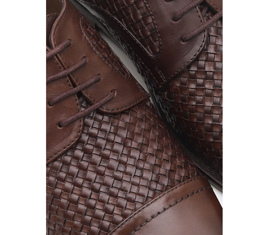 Weave Textured Lace Ups
