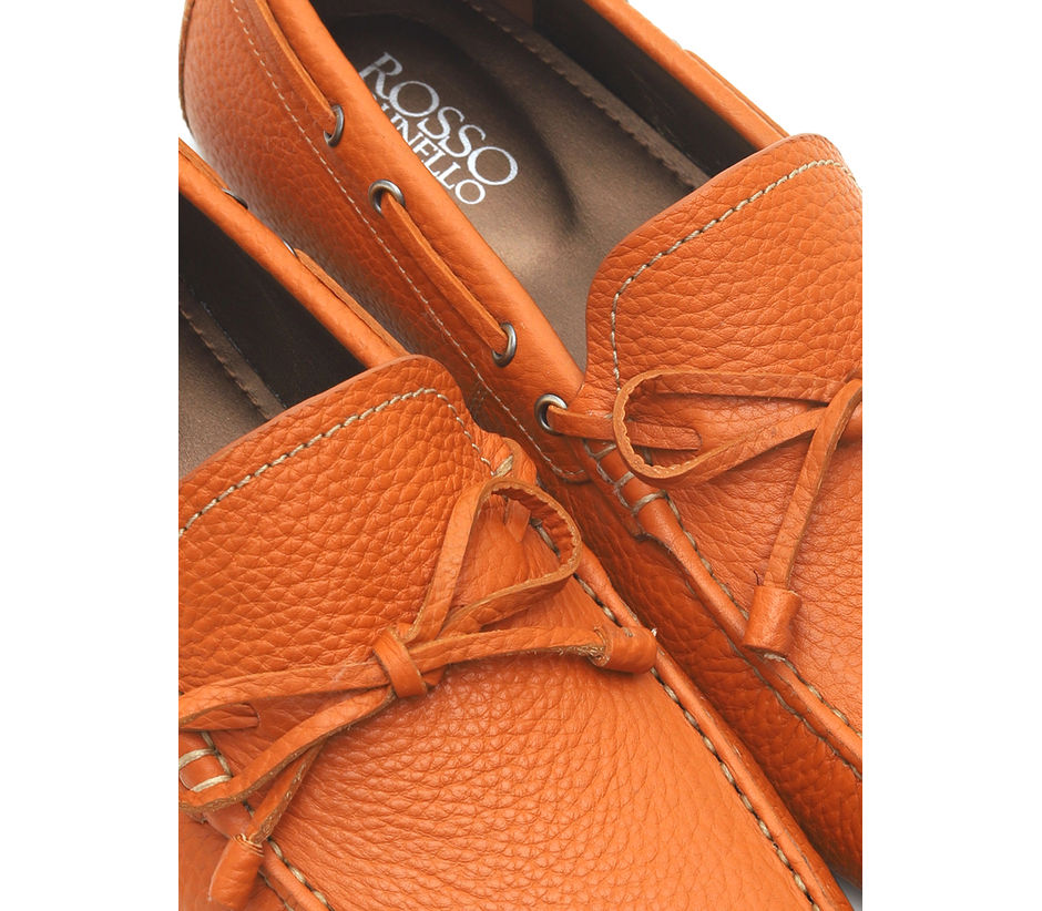 Leather Moccasins With Bow