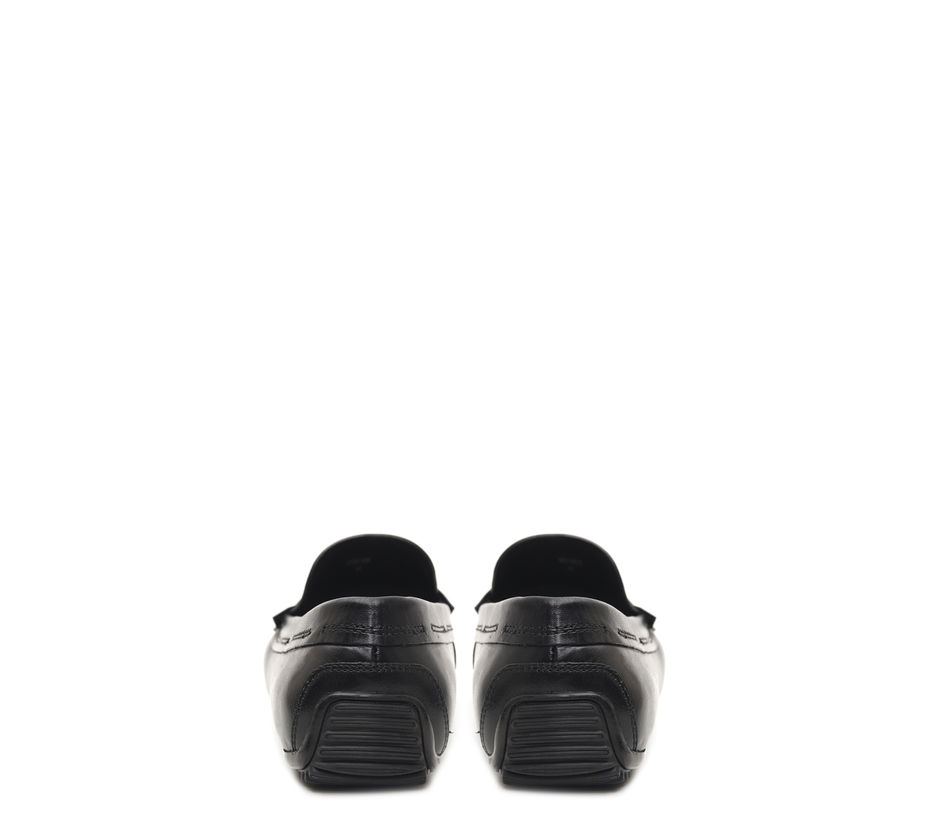 Textured Panelled Moccasins