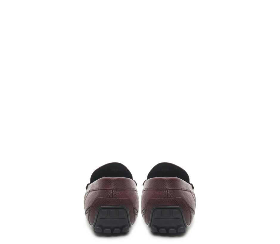 Textured Leather Moccasins