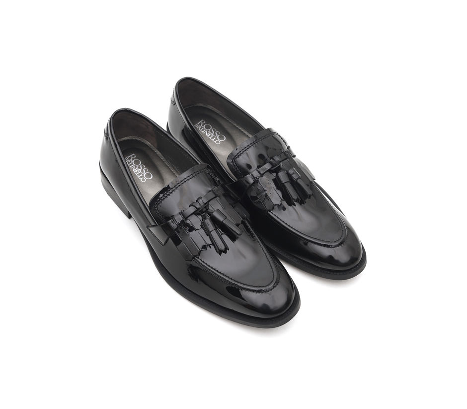 Panelled Loafers With Tassels