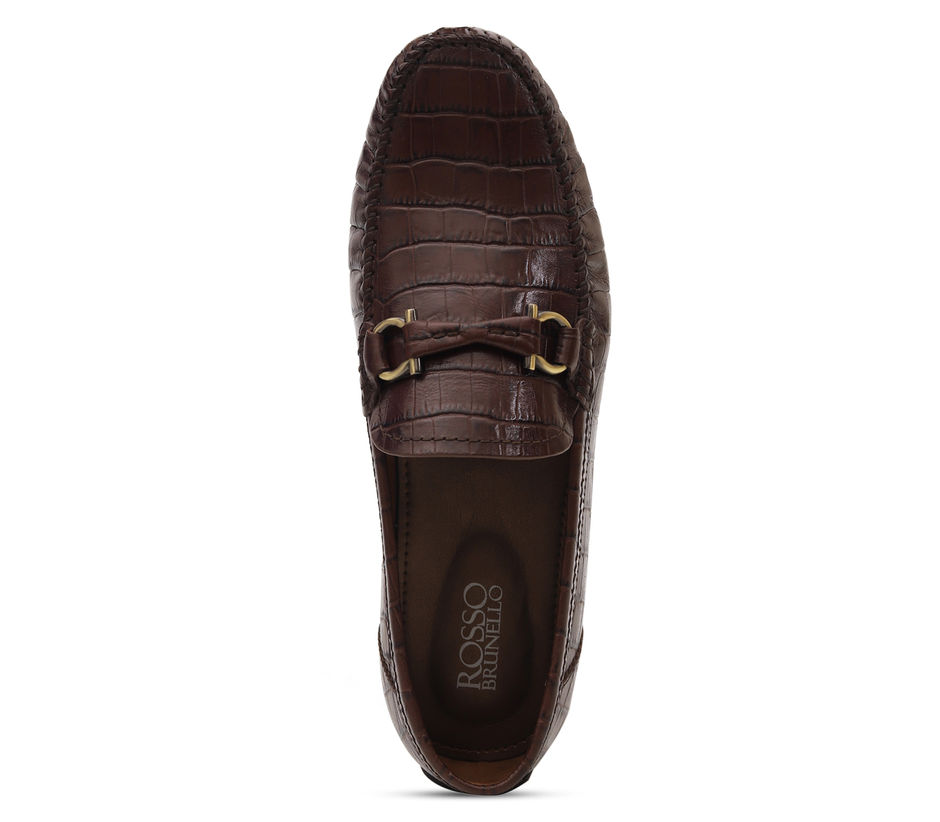 Croco Leather Moccasins