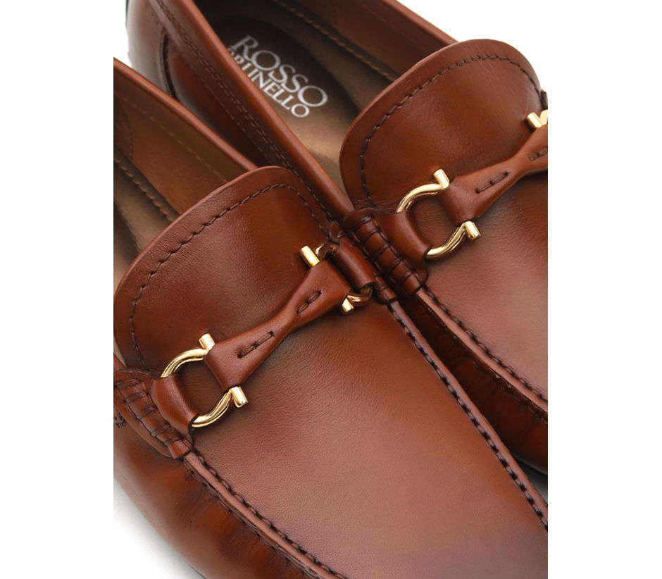 Buckled Leather Moccasins