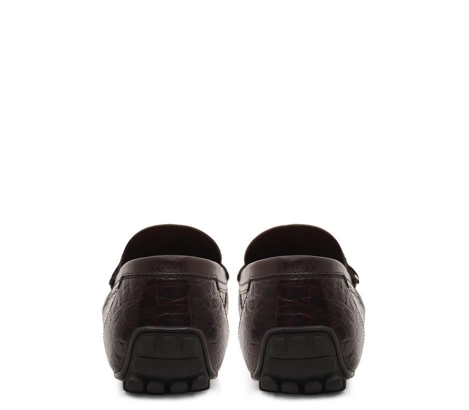 Croco Leather Monk Straps