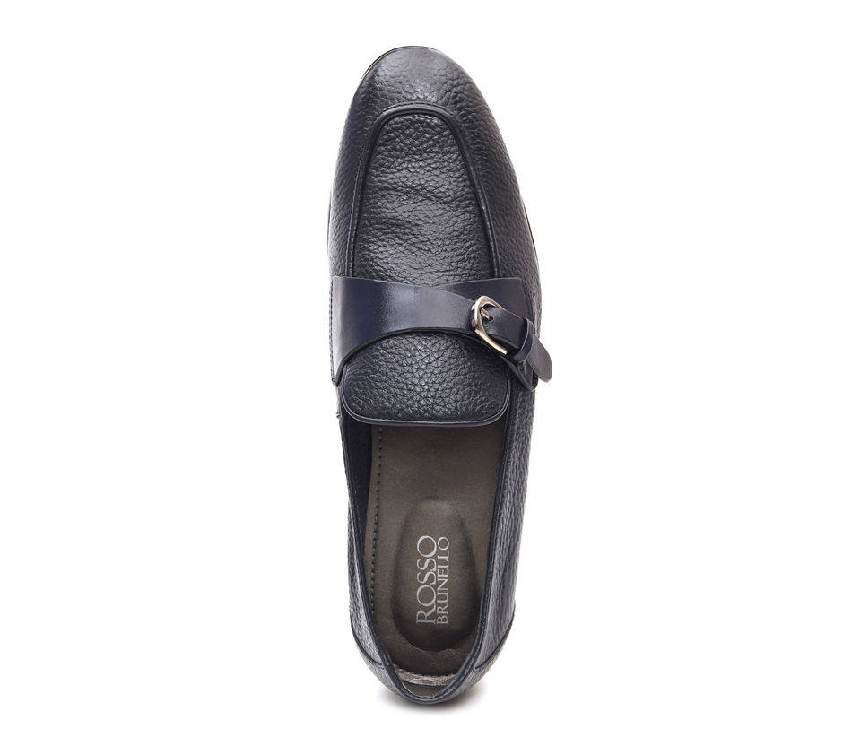 Buckle Panel Loafers