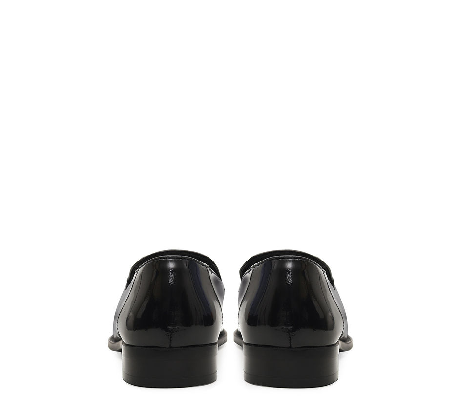 Patent Leather Loafers With Tassels