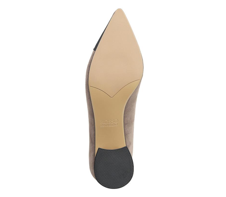 Grey Block Heels
