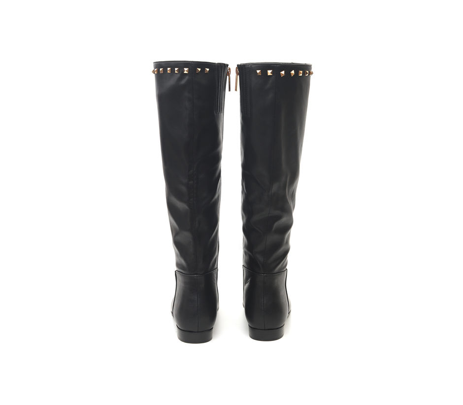 Leather Boots With Studs