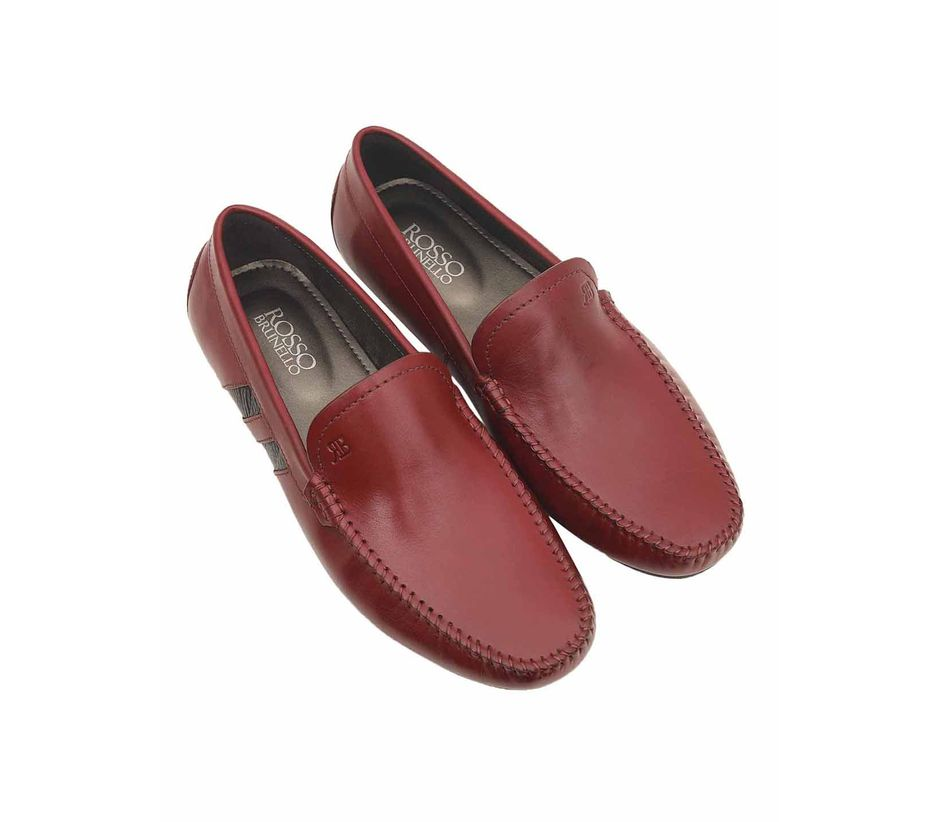 Dual Toned Leather Moccasins