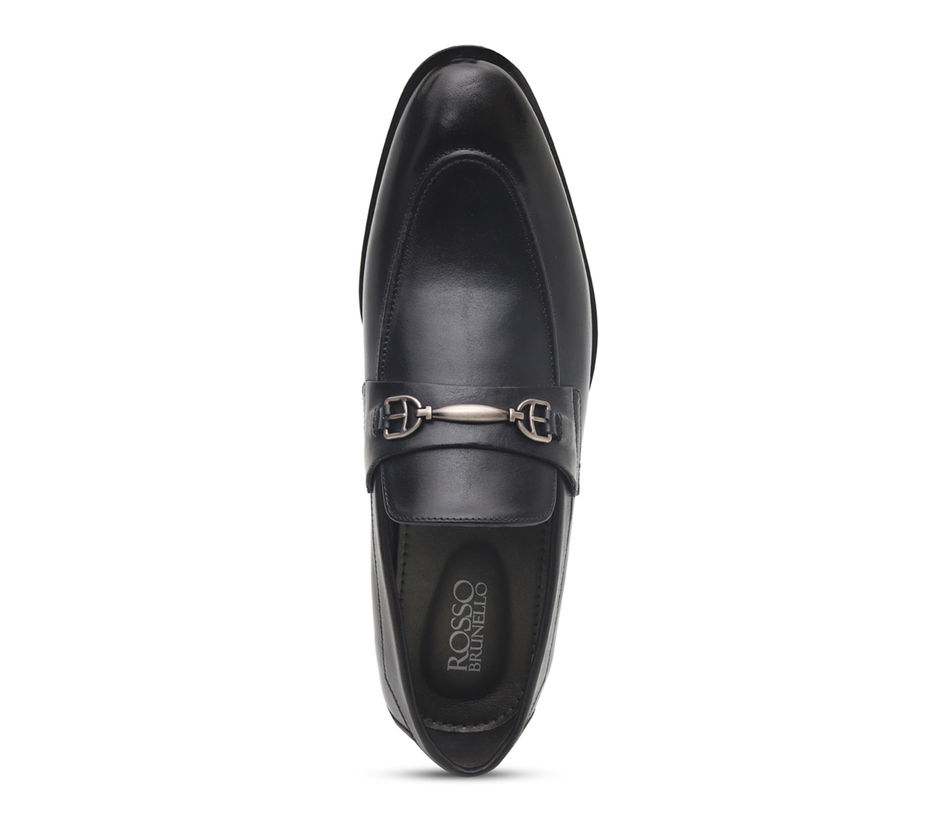 Burnished Leather Loafers