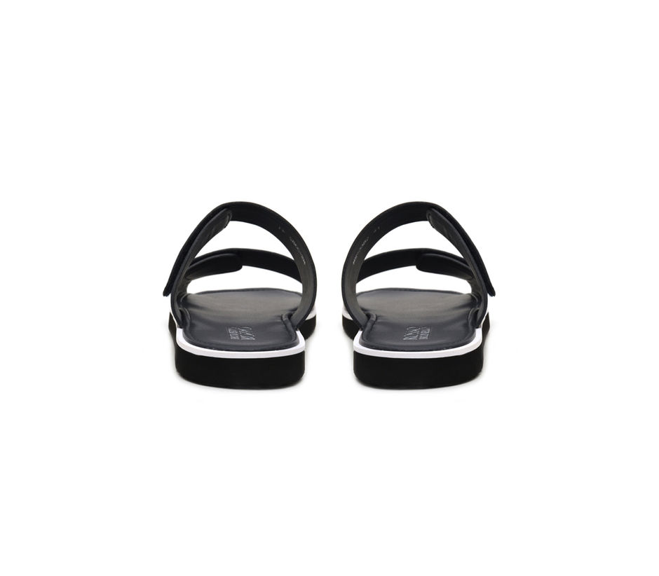 Double Broad Strap Slip Ons
