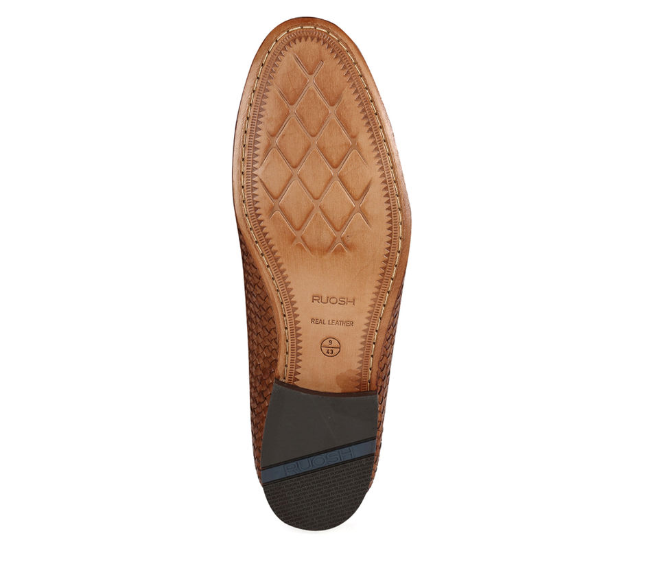 Occasion hand braided Slip-on - Tan