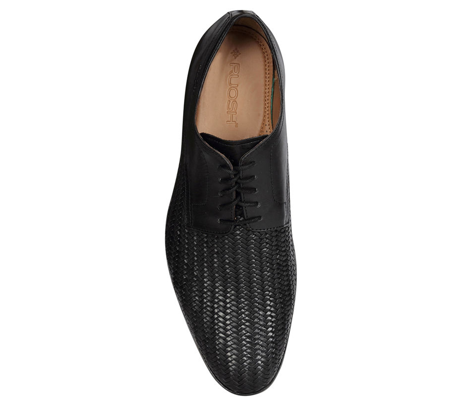 Occasion hand braided Lace-up - Black