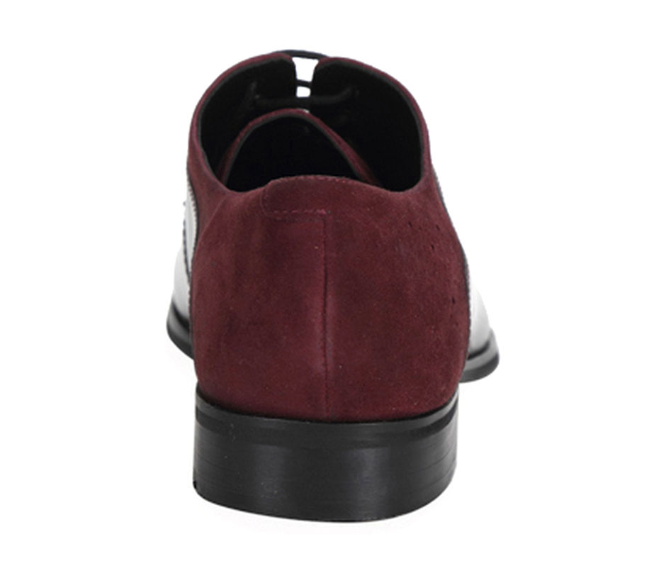 Occasion Lace-ups with laser detailing - Red