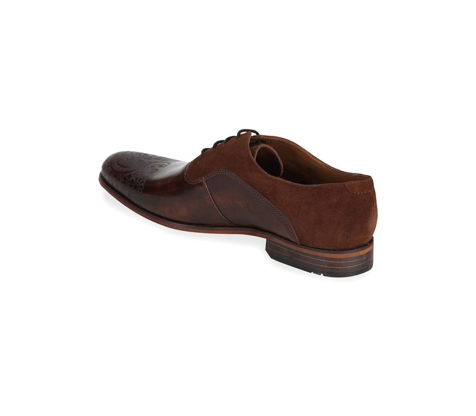 Occasion Lace-ups with laser detailing - Brown