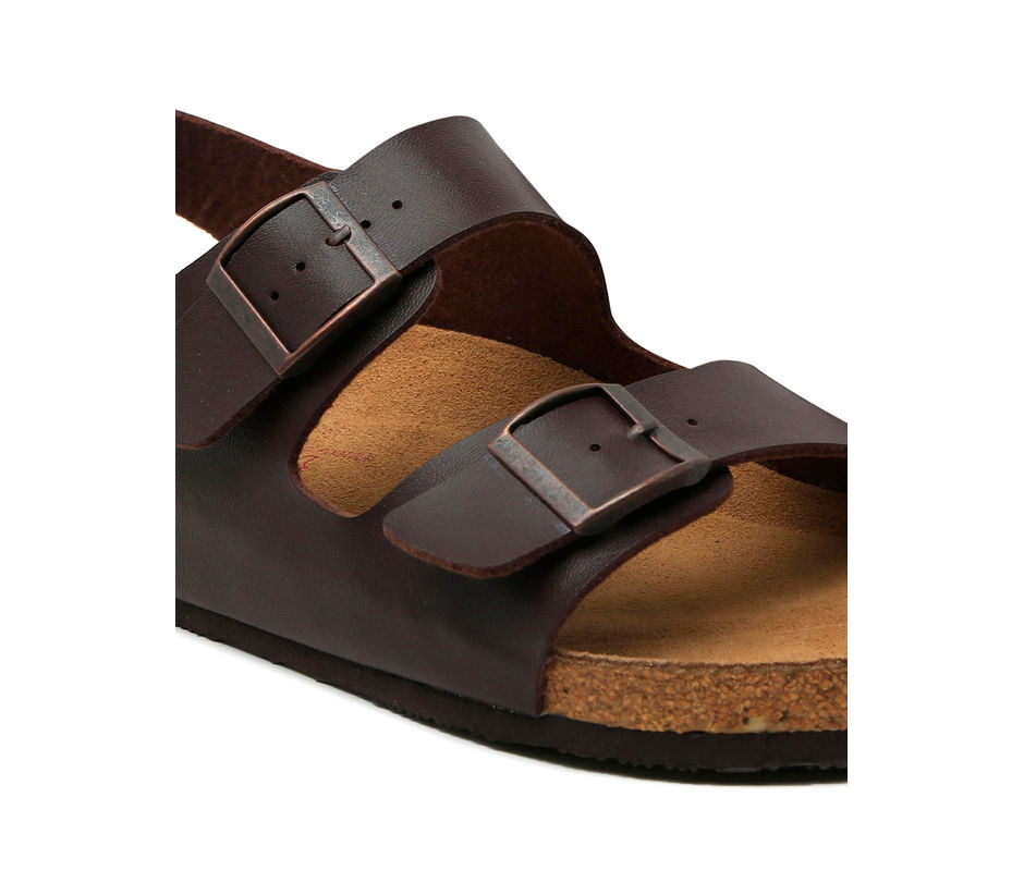 Cygna Double strapped Brown sandals