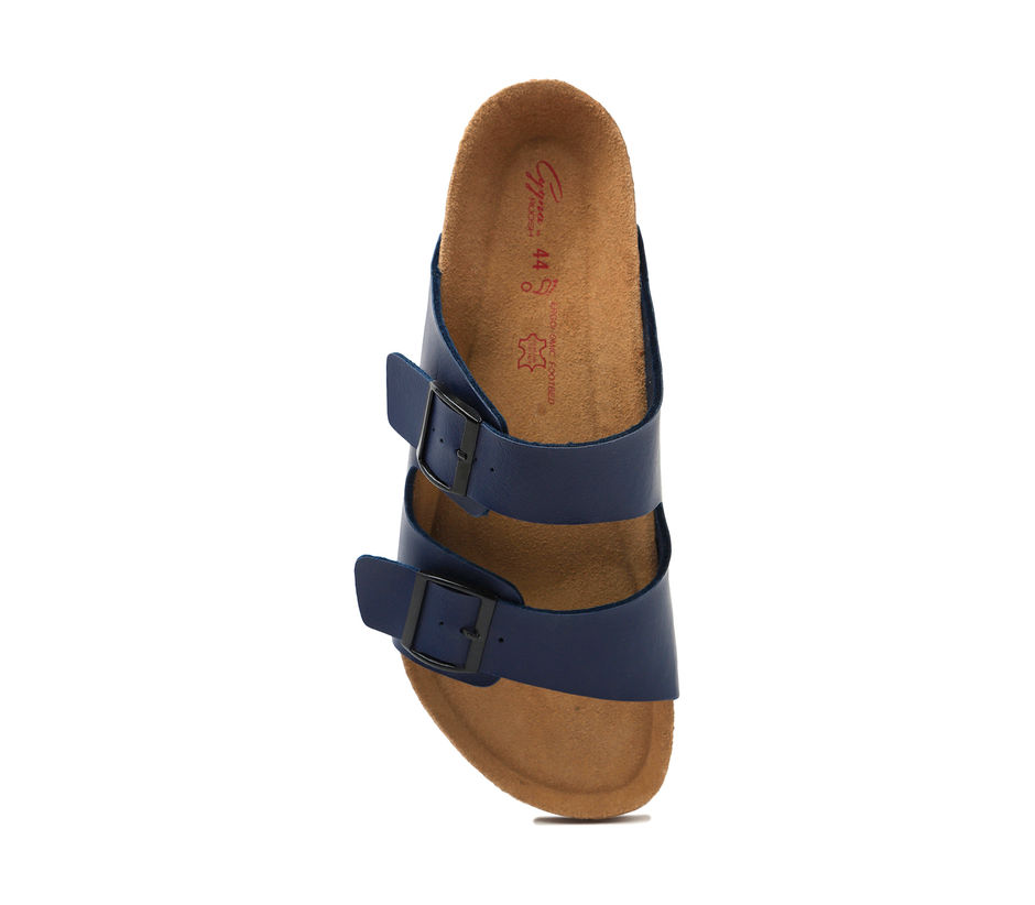 Cygna Double strapped navy Sandals