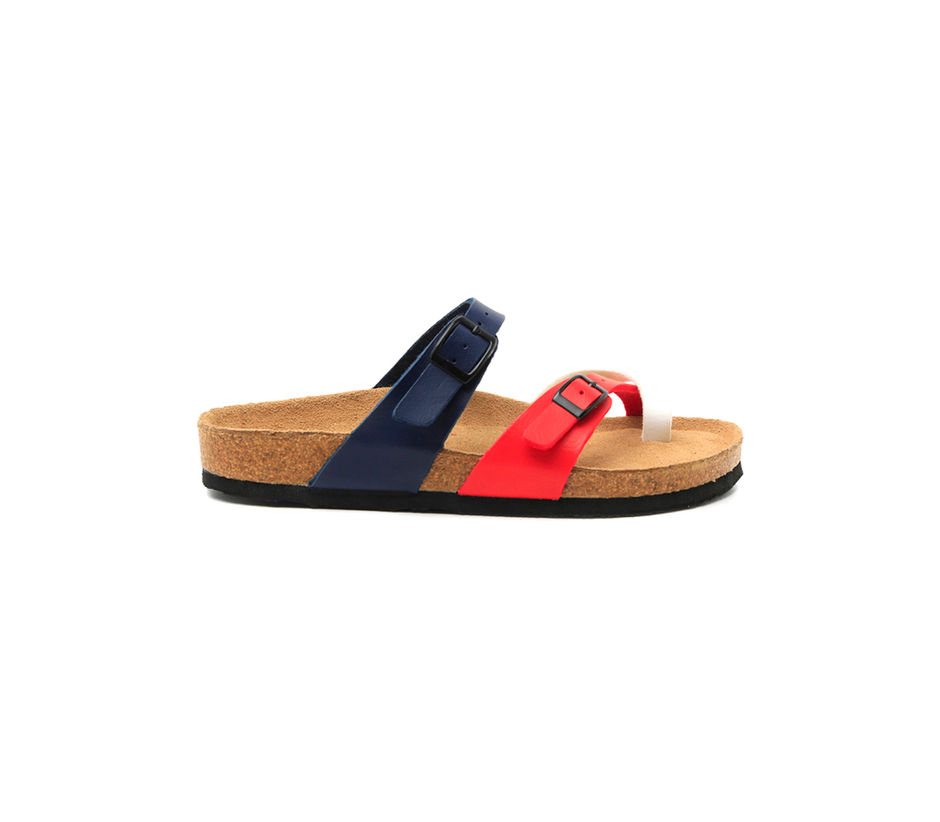 Red and Blue Sandals