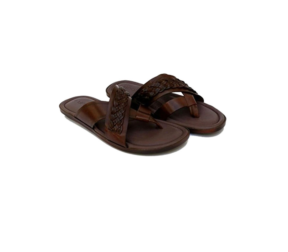 Casual Brown Leather Sandal For Men | Ruosh