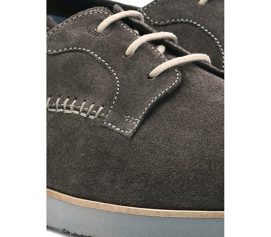Grey Casual Lace-ups