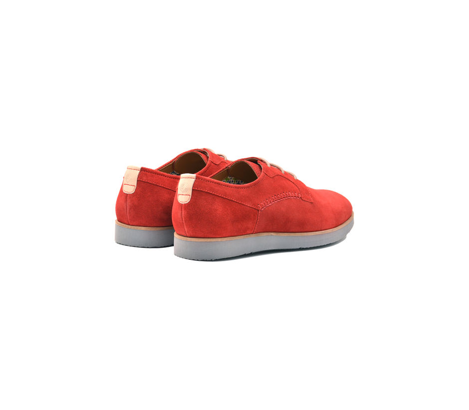 Red Casual Lace-ups