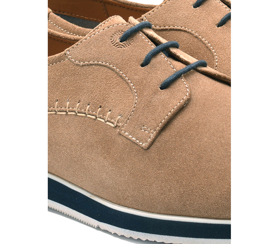 Beige Casual Lace-ups