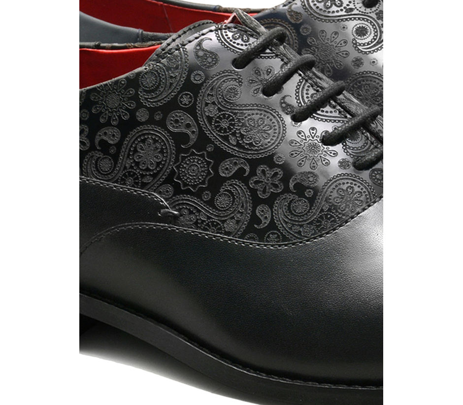 Paisley Lace-up - Black