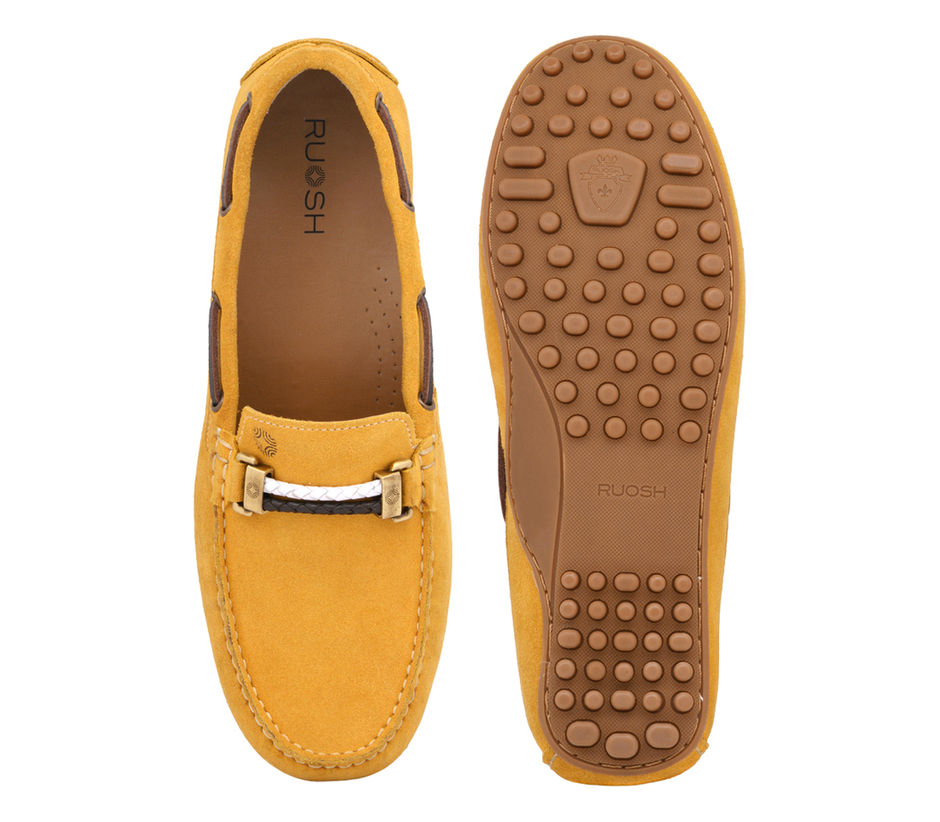 Yellow Casual Slip-ons