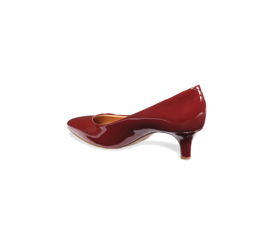 Women Kitten Heel - Red
