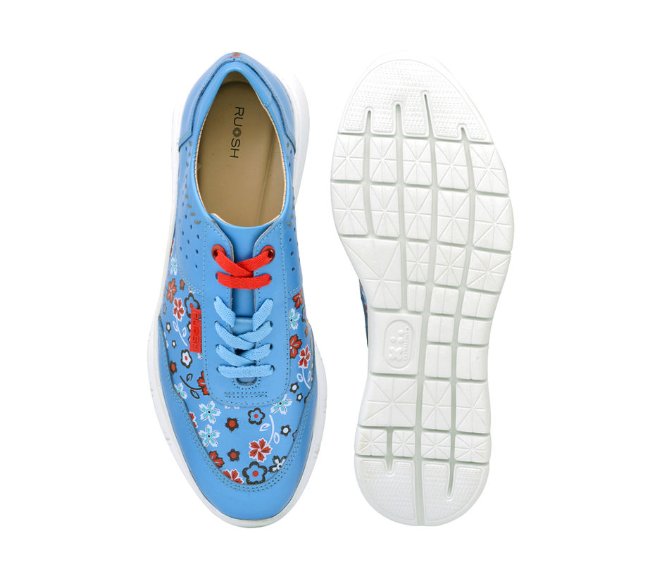 Women Casual Lace Up - Blue