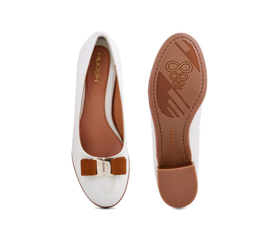 White Block Heels