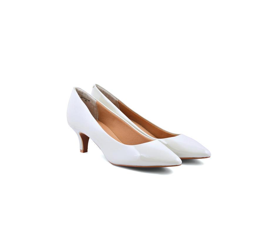 Off White Kitten Heels