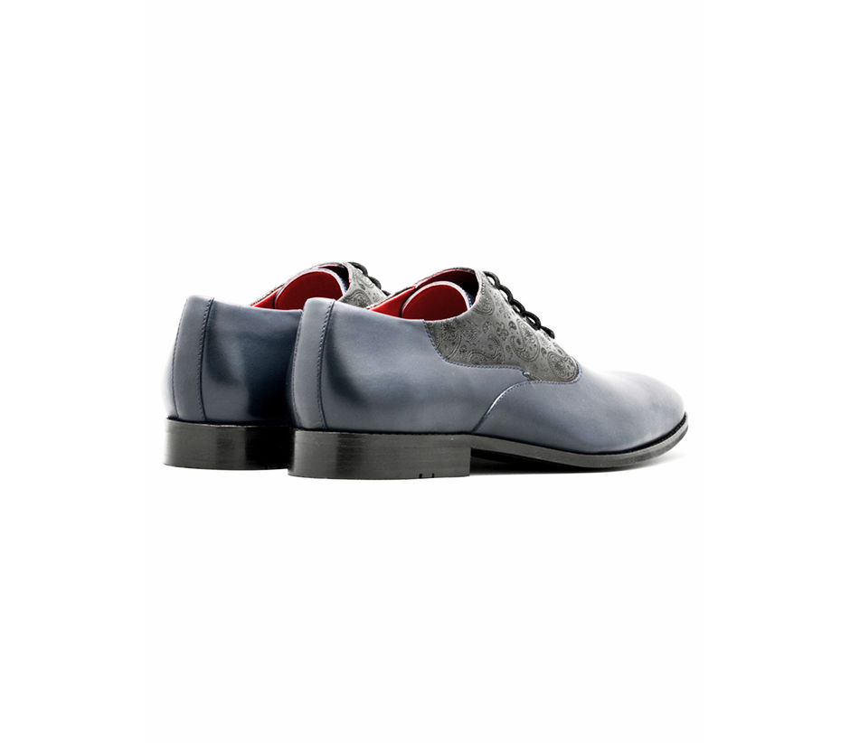 Paisley Lace-up – Navy