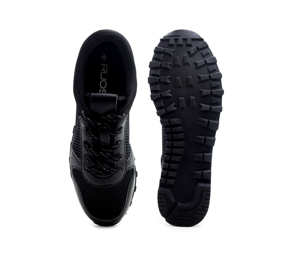 Black Casual Lace-ups