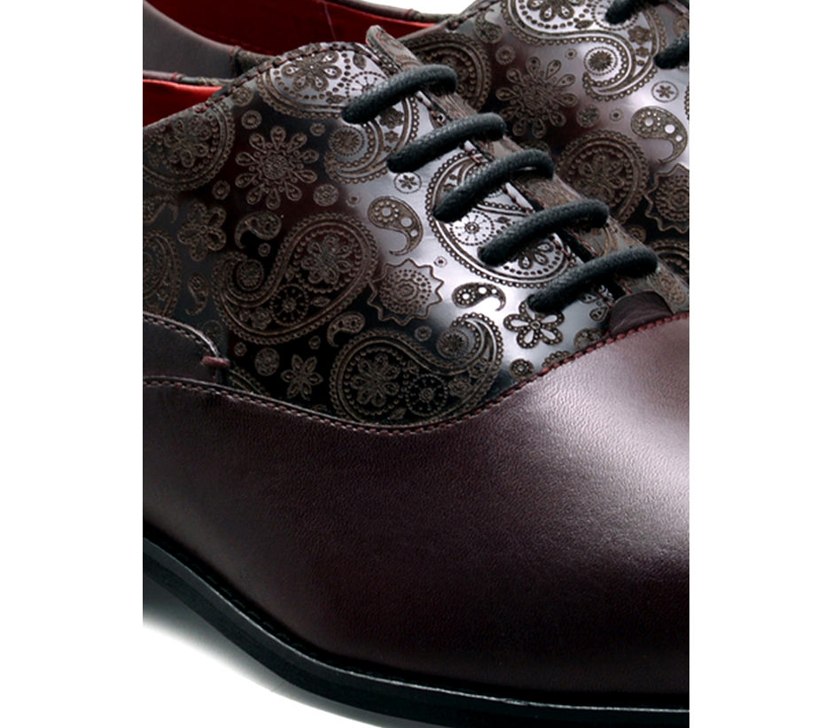 Paisley Lace-up - Brown